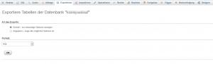 Datenbank exportieren im SQL-Format