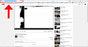 YouTube-Stream auswählen und URL kopieren.