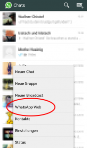 WhatsApp Web am Smartphone starten.