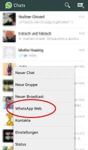 WhatsApp Web am Smartphone starten.