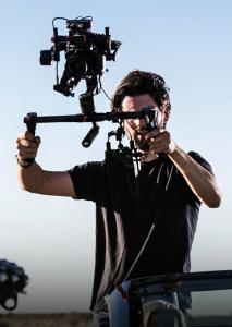Actionaufnahmen eines Filmers.