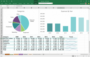 Excel in Office 2016.