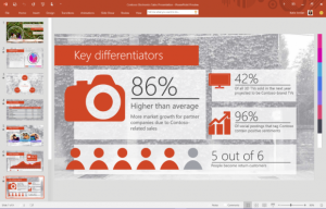 PowerPoint in Office 2016.