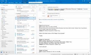Outlook in Office 2016.