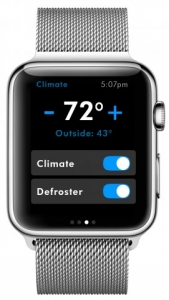 Einstellung der Klimaanlge per Apple Watch.