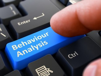 Behaviour Analysis - Written on Blue Keyboard Key.