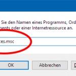"""Befehl """"services.msc"""" ausführen"""
