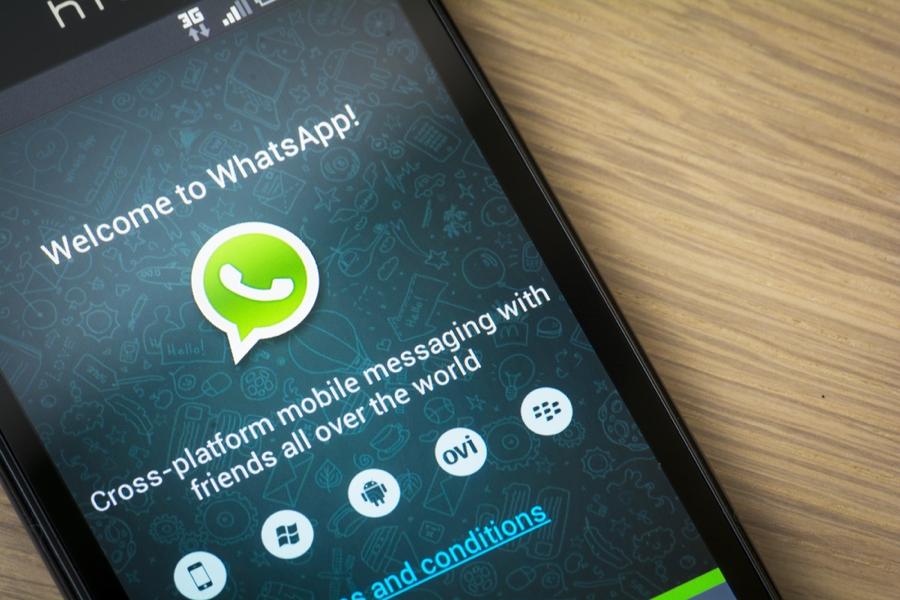 WhatsApp am Smartphone