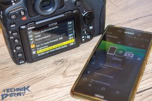 Verbindung zwischen Kamera und Smartphone